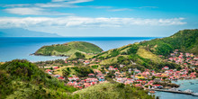 Panoramic Landscape View Of Terre-de-Haut, Guadeloupe, Les Saintes, Caribbean Sea.