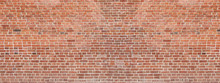 Old Red Brick Wall Background....