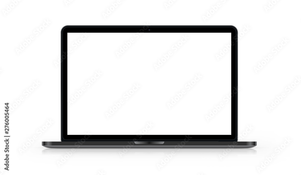 Fototapety, obrazy: Laptop mit weißem Hintergrund