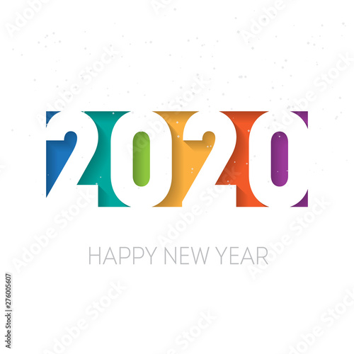 Happy new year 2020 vector background. Vector brochure or ...