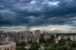 Kiev Ukraine panorama view storm day building