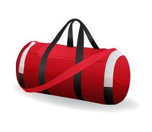 Red Sport Bag For Sportswear A...