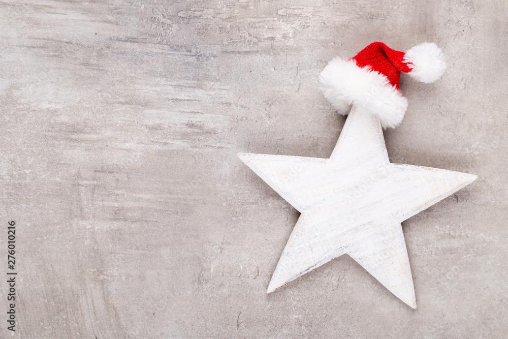 Fototapety, obrazy: Christmas decor stars, Christmas greeting card. - Image
