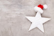 Leinwandbild Motiv Christmas decor stars, Christmas greeting card. - Image