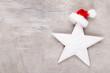 Leinwandbild Motiv Christmas decor stars, Christmas greeting card. - Image