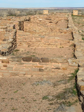 The Puerco Pueblo. The Homes Of The People Who Once Lived In This Inhospitable Area. The Structures Are Single Room With No Door. The People Living In These Houses Probably Entered Their Homes Through