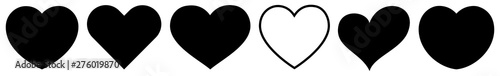 Heart Black | Love | Logo | Variations