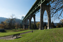 The Saint Johns Bridge In Port...