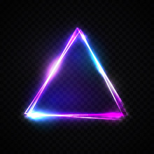 Neon Abstract Triangle On Tran...