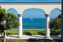 Backyard With Arched Vaults An...