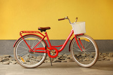 Modern Color Bicycle With Bask...