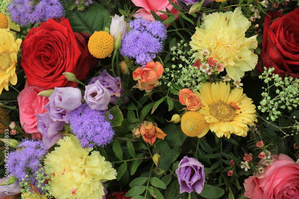 Fototapety, obrazy: Colorful wedding flowers