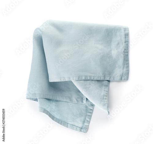 Fototapeta Fabric napkin on white background obraz