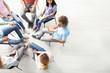 Leinwandbild Motiv People at group therapy session