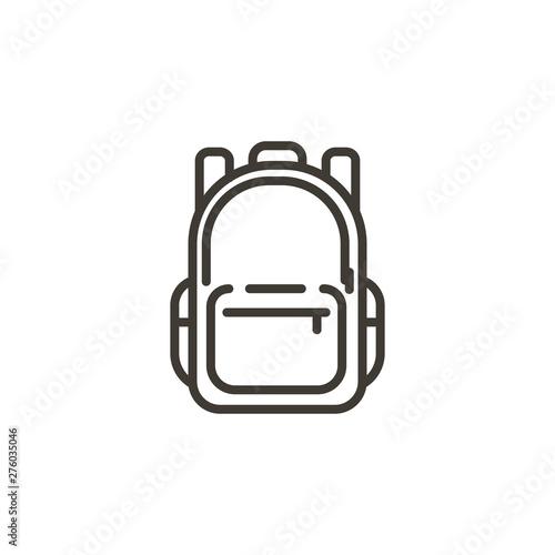 Fototapeta Schoolbag icon. Trendy modern thin line illustration of a school backpack bag. obraz