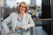 Leinwandbild Motiv Smart successful business woman, financial representative, legal attorney, consultant, modern professional at the workplace