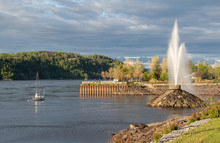 Evening At The Harbour In Chicoutimi Quebec