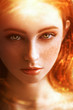canvas print picture space redhead girl