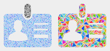 User Id Badge Mosaic Icon Of T...