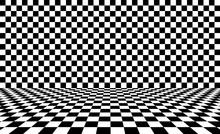 Black Chess Background. Vector Illustration.