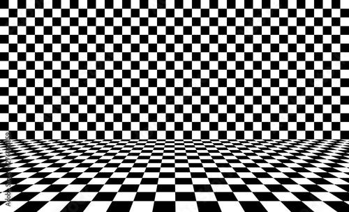 Fototapeta  Black chess background. Vector illustration.