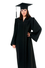 Graduating Student Girl In An ...