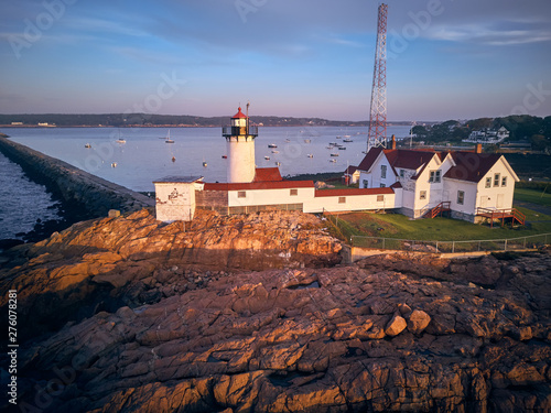 Valokuva  Eastern Point Lighthouse at sunrise in Gloucester, Massachusetts, USA