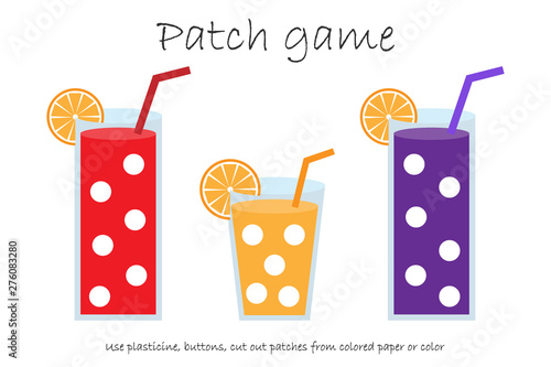 photo relating to Printable Patches named Schooling Patch match gl of juice for kids in the direction of acquire