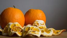 Shot Of Fresh And Dried Orange