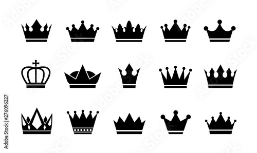 Foto Royal crown icons collection set