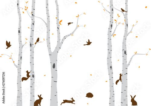 Naklejki na meble Ilustracja leśnej koegzystencji