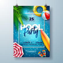 Summer Pool Party Poster Desig...
