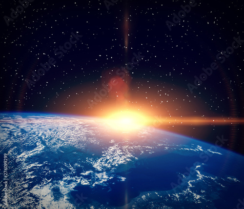 Keuken foto achterwand Nasa Wonderful sunlight above earth. The elements of this image furnished by NASA.