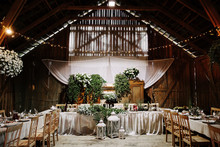 Interior Of An Old Wooden Hall...
