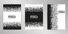 Pixel Cover Design Background Set A4 Format.