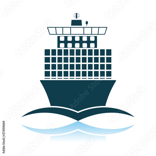 Valokuva  Container Ship Icon Front View