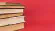 Leinwanddruck Bild - Stack of vintage hardcover books