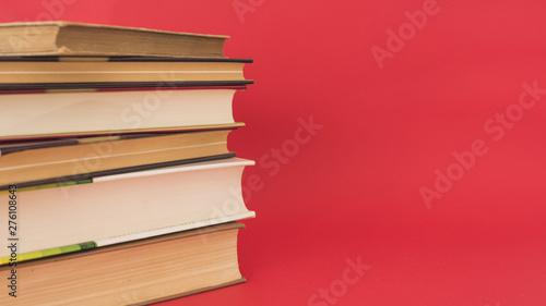 Obraz na plátně  Stack of vintage hardcover books