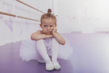 Adorable Little Girl Ballerina...