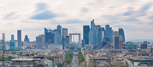Foto auf AluDibond Paris Panoramic Paris city landscape, business district modern buildings in Paris, France