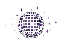 Disco Ball Vector Icon Illustr...