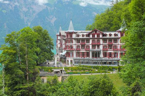 Historic hotel Hotel Giessbach, Switzerland. Tapéta, Fotótapéta