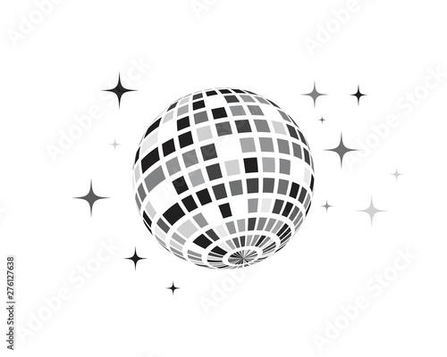 Obraz na plátně Disco ball vector icon illustration
