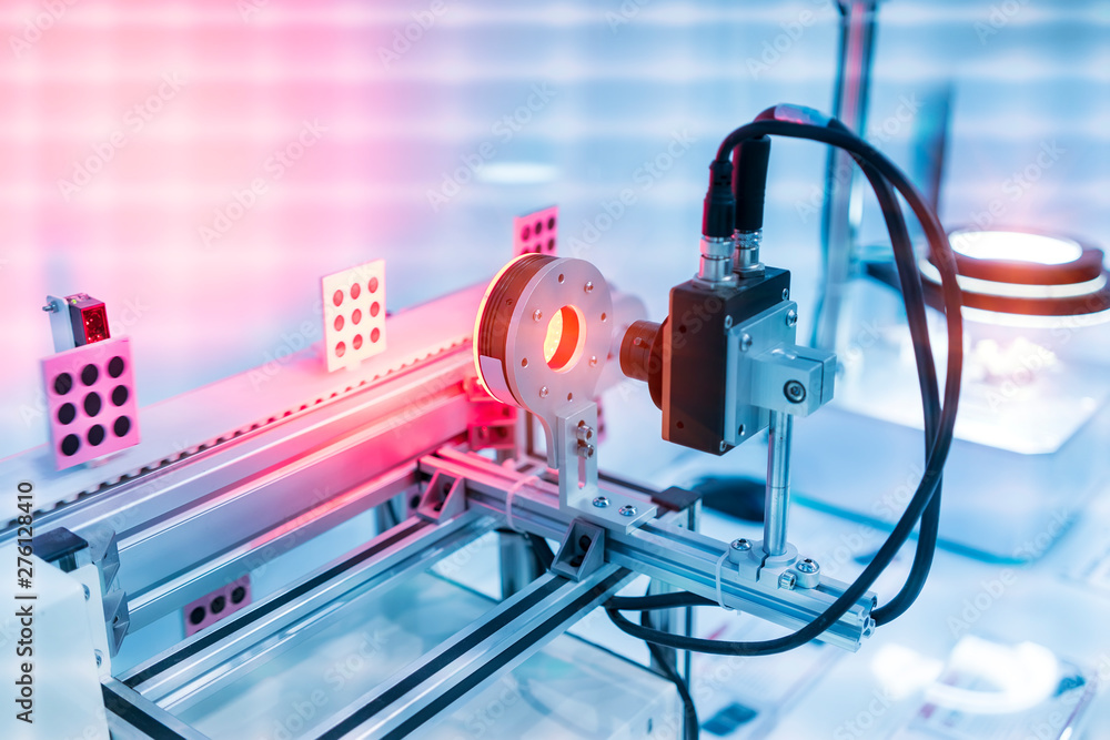 Fototapety, obrazy: Robotic vision sensor camera system in intellegence factory