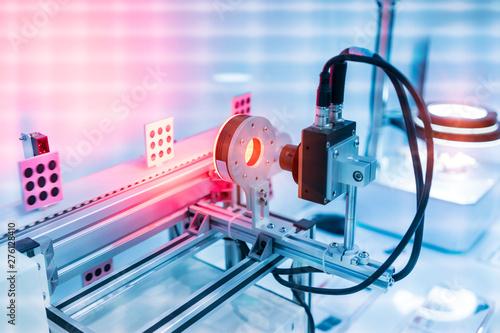 Robotic vision sensor camera system in intellegence factory Canvas Print