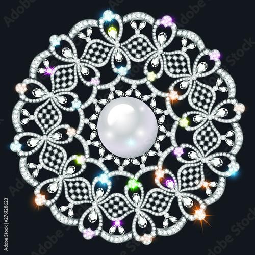 Fotografia Mandala brooch jewelry, design element