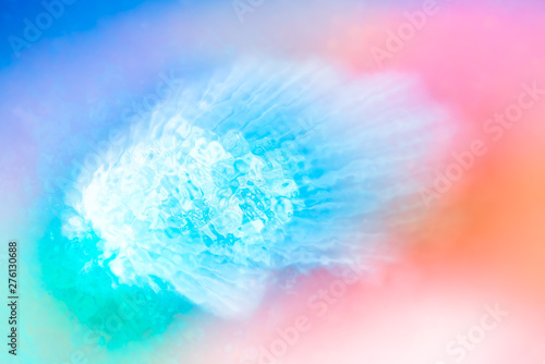Fotografia, Obraz  Abstract background of blurred bright colorful neons and diverse watercolor paint splash