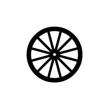 Wooden Wheel Icon. Vector Illu...