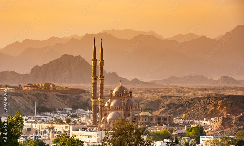 Fototapeta Panorama od old town , mountains of Sharm El Sheikh. Egypt.