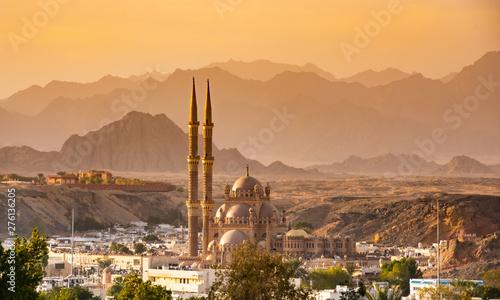 Obraz na plátně  Panorama od old town , mountains of Sharm El Sheikh. Egypt.
